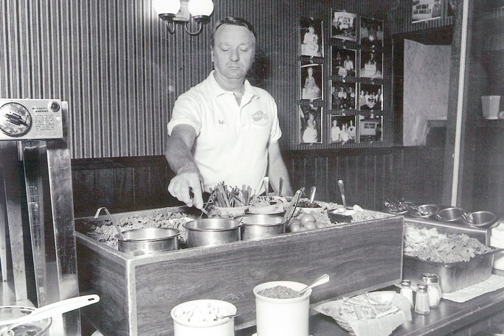 Robert Leucht was the first in town to offer a pizza buffet