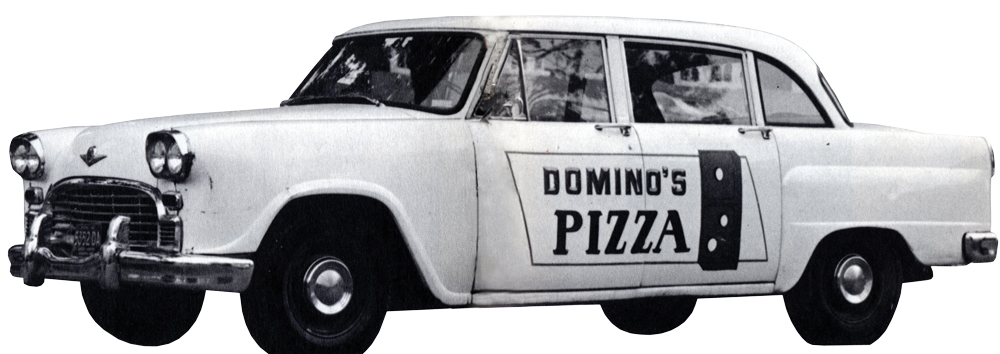 dominos-car