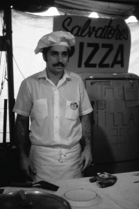 The Buteras' son Larry helps craft pizzas in the '60s.